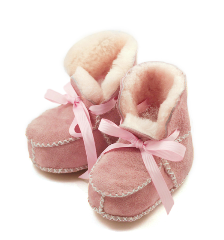 Shearling Boots Pink