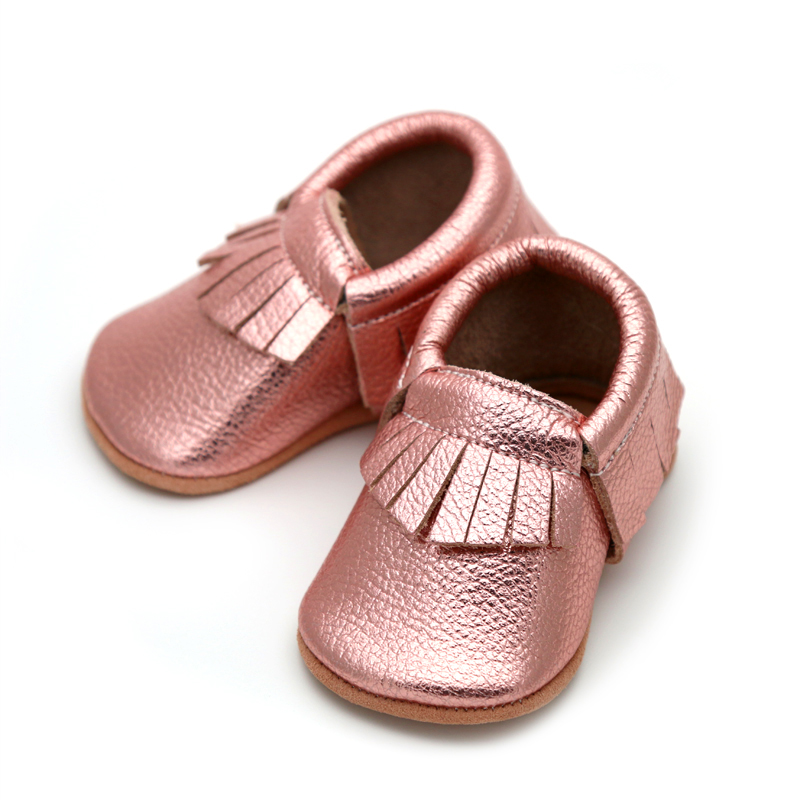 Moccasin Metallic Rose